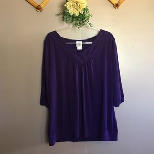 JMS PURPLE FLOWY BLOUSE